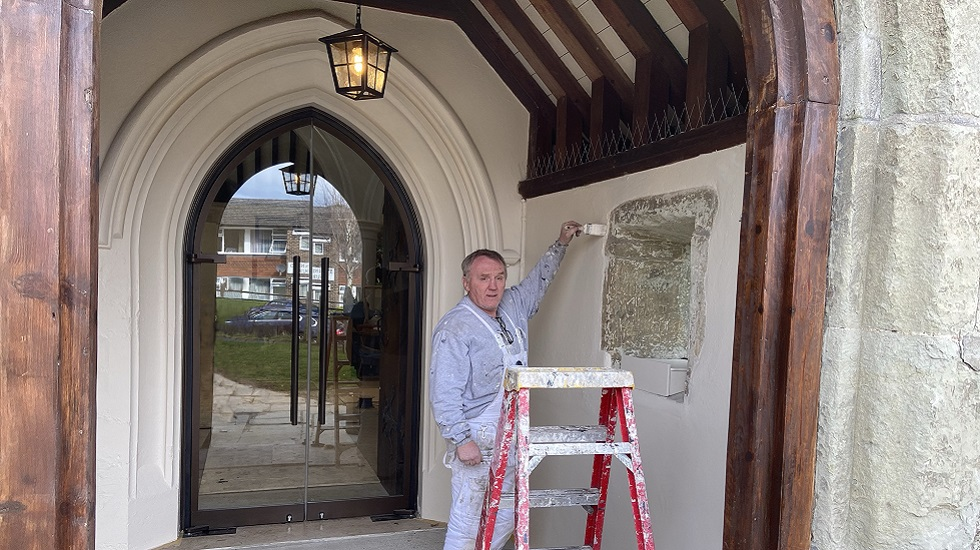 Church walls painted thanks to crowdfunding appeal