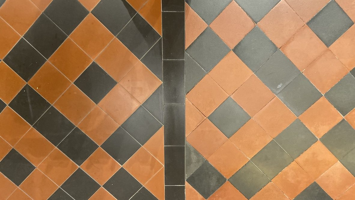 Tiling skilled Craftsmanship within church